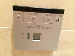 Control panel for the toliet (!)