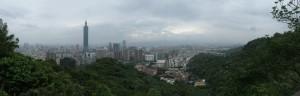Taipei, a little bit cloudy