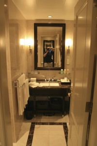 Bathroom at the Tokyo station hotel