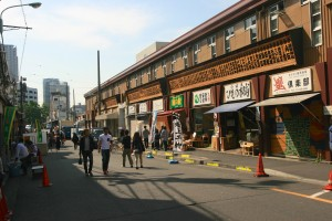 Tokyo street, near the fish market.
