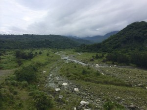 A rocky valley