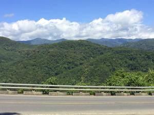Climbing into the mountains