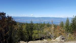 High above the lake