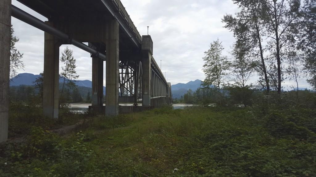 The bridge across the Fraser