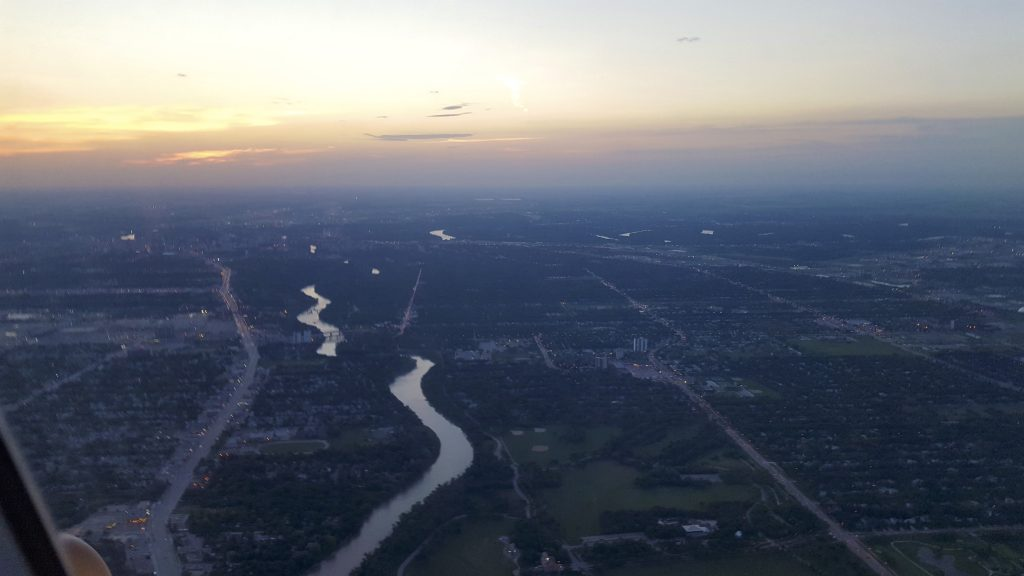 Sunrise over Winnipeg